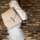 NWT Kate Spade Adel Medium Flap Backpack in Warmbeige Leather WKRU6412 AUTHENTIC