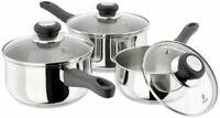 Judge Vista 3 Piece Stainless Steel Saucepan Set 14/16/18cm 25 Year Guarantee