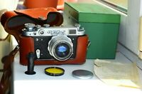 FED-2 35mm USSR Rangefinder Film Camera (copy Leica) w/s lens industar-26M EXC