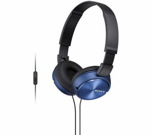 SONY MDR-ZX310APL Headphones - Blue - Currys