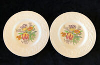 "Set Of 2 Booths Silicon China England Corinthian Larkspur VTG 9"" Luncheon Plates"