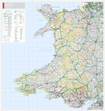 ORDNANCE SURVEY WALL MAP OF WALES. LAMINATED EDITION - ORDNANCE SURVEY MAPPING