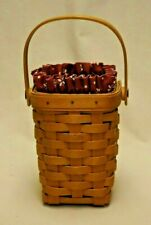 Longaberger 1998 Horizon of Hope Basket with Traditional Red Liner and Protector