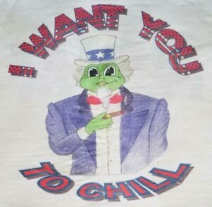 CHILLIN' FROGGY Uncle Sam Patriotic 4th of July I want you to Chill Shirt M L XL