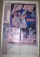 STAR WARS ORIGINAL ONE SHEET POSTER SIGNED X4 CARRIE FISHER STYLE D MARK HAMILL