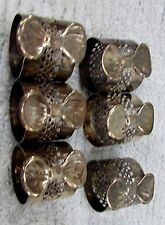 Set 6 Vintage 1980s Holiday Bow Stamped Rolled Steel Napkin Rings Free S/H