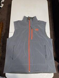 Mens North Face Vest, Grey, 2XL, XXL. 100% Polyester,