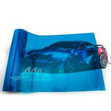"12""x48"" Gloss Dark Blue Smoke HeadLight Tailight Fog light Tint Film Sheet"