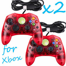 2 LOT NEW RED Controller Control Pad for Original Microsoft XBOX X BOX System