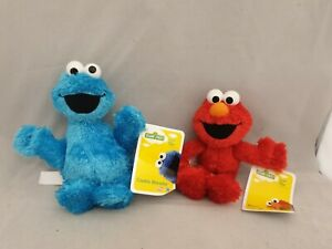 Sesame Street Elmo And Cookie Monster Plush Soft Toy Bundle Of 2 New