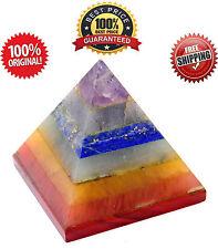 Multistone 7 Chakra Pyramid Energy Generator Spritual Healing Reiki Chakra Gift
