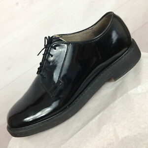 BATES Black Uniform High Gloss Leather Sole Military Oxford Men Dress Shoes 13 E