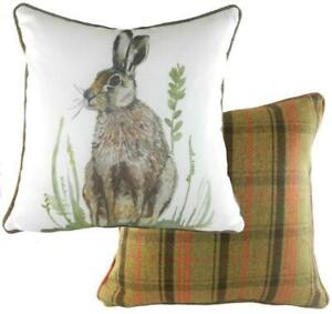 """Evans Lichfield Piped Country Hare Hunter Cushion Cover 17x17"""""""