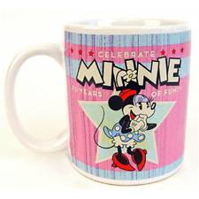 MINNIE MOUSE Walt Disney Retro Ceramic Coffee Mug 7th Anniversary NEW