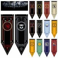Game Of Thrones Banner Flag Stark Tully Targaryen Lannister Martell Home Decor