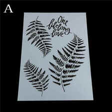 leaf layering stencils for wall painting scrapbooking stamping stamp album de DS