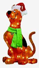 Scooby Doo Santa Hat Christmas Yard Art Decoration Pre-Lit Works New In Box