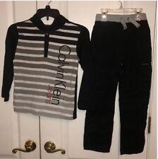 Preowned Calvin Klein 2pcs Boy's hooded top & pant set 7