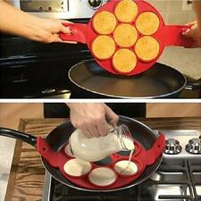Flippin Fantastic Easy Flip Silicone Kitchen Pancake Maker Egg Ring Maker JJ