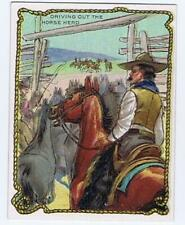Hassan Cigarettes Cowboy Series T53 Driving out the Horse Herd high grade 322