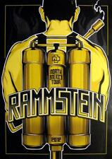 RAMMSTEIN POSTER NORTH AMERICAN TOUR 2012