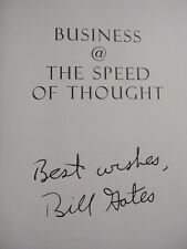 BILL GATES SIGNED BOOK BECKETT (BAS) CERTIFIED AUTHENTIC AUTOGRAPH MINT RARE!