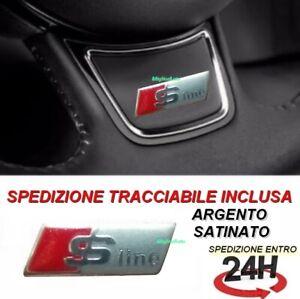stemma volante audi adesivo logo A1 A3 A4 A5 A6 A7 A8 S-LINE S LINE SATINATO