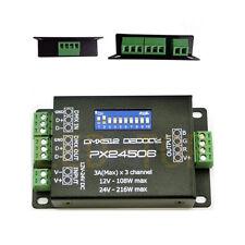 PX24506 DMX512 Decoder Driver Controller 9A DMX Amplifier 12V 24V RGB LED Light