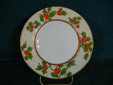 Fitz and Floyd Christmas Holly Salad Plate(s)