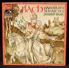 Bach Sonate 2 & Partita 2 Josef Suk LP NM/M, CV NM -