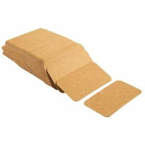 "250 Blank Mini Index Flash Card for Study or DIY Use 300gsm Kraft Brown 2""x 3.5"""