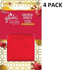 4 x 8g Glade Discreet Refills - Cheerful Spirits (Cozy Apple & Cinnamon)