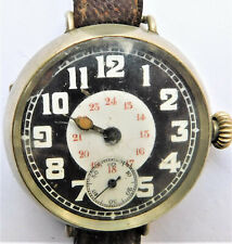 More details for no reserve original ww1 military trench watch wristwatch vintage