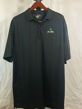 Greg Norman Play Dry Golf Shirt Polo Men 2XL Short Sleeve Black Grand Wailea