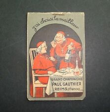 CARNET PUBLICITAIRE CHAMPAGNE PAUL GAUTHIER REIMS FRANCE PUB OLD ALCOOL MOINE