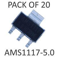 20x AMS1117-5.0 SOT-223 - 5V 1A Fixed Voltage Regulator LDO