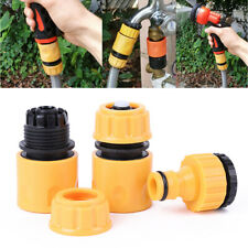 More details for 3pack garden water hose pipe tap connector conection fitting adaptor hoselock↙