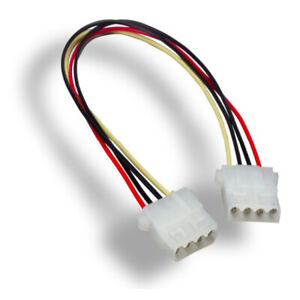 "Kentek 12"" 4 Pin Molex 5.25 Female to Female Internal Computer PC DC Power Cable"