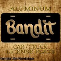 Bandit Burt Reynolds  Pontiac Trans Am  Vanity Prop Aluminum License Plate
