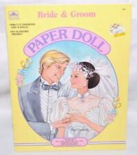 NEW-1988 GOLDEN BOOK-BRIDE &/AND GROOM PAPER DOLL-4 DOLLS + 18 FASHIONS & ACCS.+