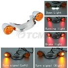 Bullet Rear Brake LED Light Bar Turn Signal For Harley Street Road Glide 2010-20