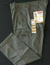 Men's Wrangler FLEX Cargo Pants Relaxed Fit Olive Drab 34 36 38 40 42 44 46 48