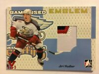 2006-07 ITG Heroes & Prospects Game-Used Emblem Gold Jiri Hudler Vault Red 1/1