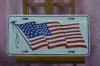 REPRODUCTION TÔLE ÉMAILLÉE DRAPEAU ETATS UNIS USA US