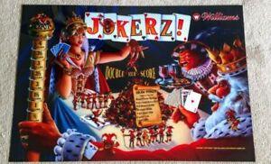 Williams jokerz pinball machine translite