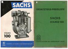23161 Sachs-Stamo 100 Prospekt Ersatzteile-Liste Nr. 422.65 Fichtel & Sachs