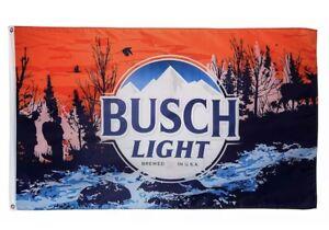 Busch Light Flag Sunset Hikers Flag Man Cave Bud Light 3x5ft Banner US shipper