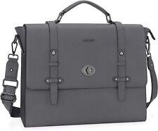 15.6 inch Laptop PU Leather Shoulder Bag Business Office Bag for Men Women