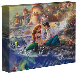 Thomas Kinkade Little Mermaid 8 x 10 Wrapped Canvas Disney