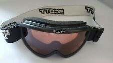 Youth Scott Snow Ski Snowboard Goggles Adjustable Fit Ambers Lens Black PreOwned